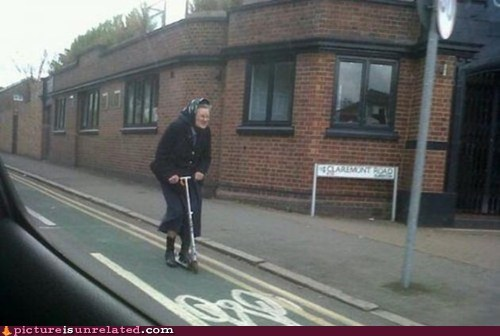 extreme granny scooter wtf - 5792656128