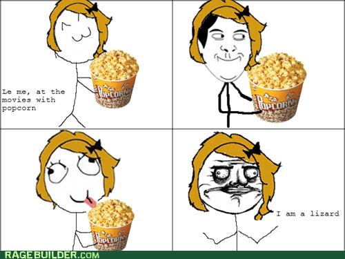 lizard,me gusta,Popcorn,Rage Comics