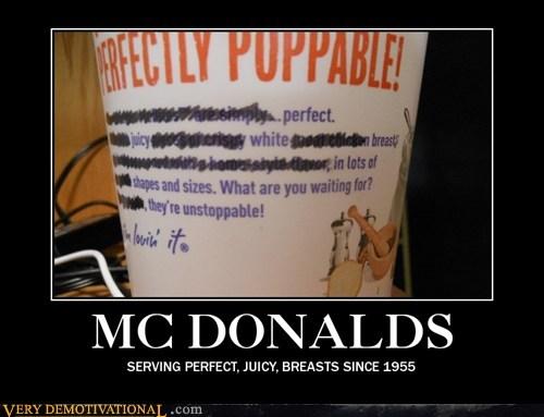 bewbs,hilarious,McDonald's,wtf