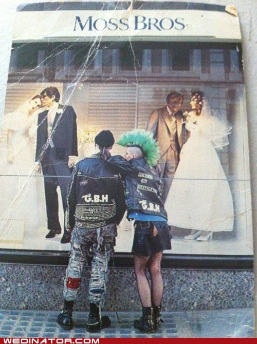 brides,funny wedding photos,grooms,punks