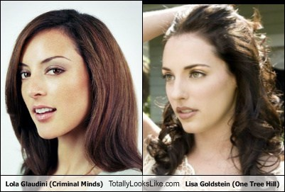 Lisa Goldstein and actress that looks like her Lola Glaudini