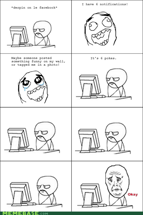 facebook,Okay,poke,Rage Comics