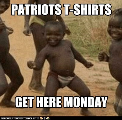 best of week monday patriots shirts sportsbowl Third World Success Kid - 5793720576