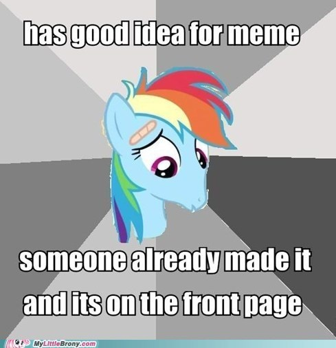 depression dash,Depression Dog,front page,meme,my little brony