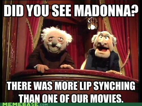 hecklers Madonna Memes muppets sportsbowl - 5794399232