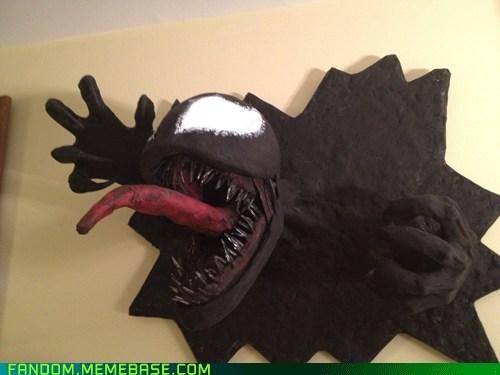 comics Fan Art paper-mâché Spider-Man Venom - 5794601984