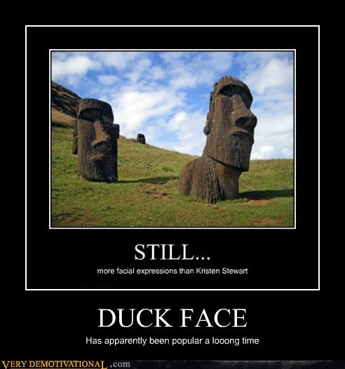 duck face easter island hilarious statues wtf - 5794797056