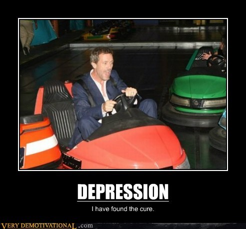 bumper cars,cure,depression,hilarious