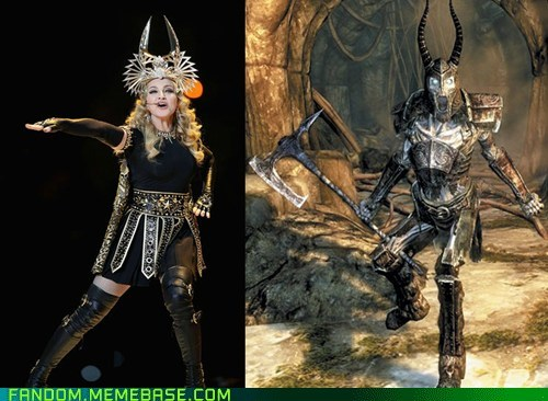 best of week cosplay fandom half time show Madonna Skyrim sooperbowl video games - 5795926016