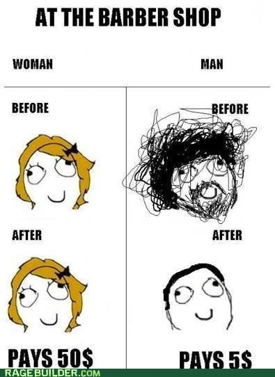 best of week haircuts men vs women money Rage Comics - 5796186368
