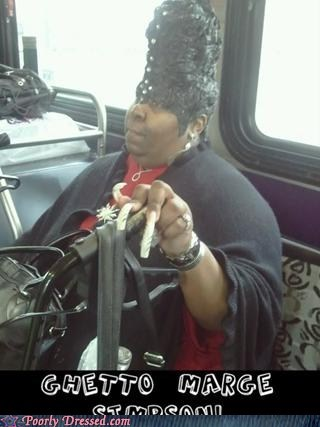 beehive,bus,ghetto,hair,marge simpson