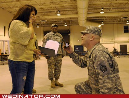 funny wedding photos,National Guard,proposal,ring,soldier