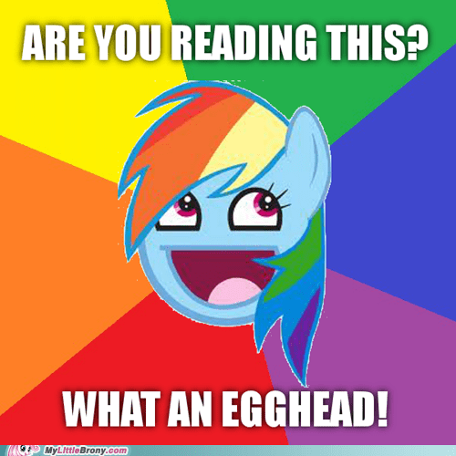 egghead manestream meme reading troll - 5796424192