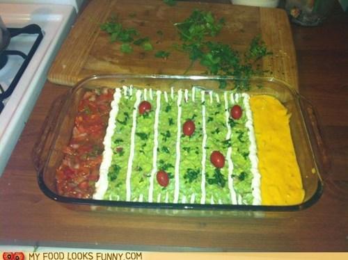 dip field football guacamole queso salsa sports - 5796435968