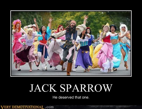 costume,disney princesses,hilarious,jack sparrow