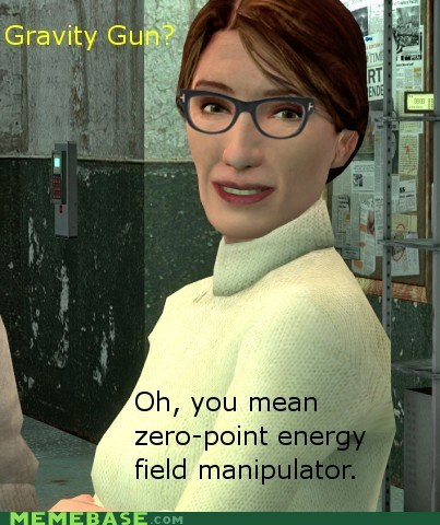 gravity gun half life hipsterlulz valve video games - 5796673280
