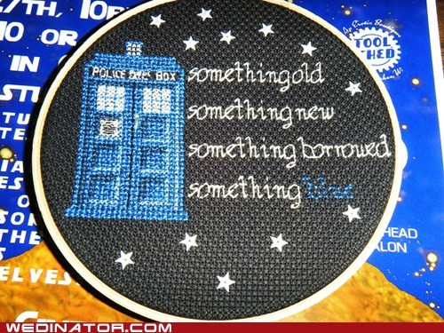 doctor who embroidery funny wedding photos geek tardis