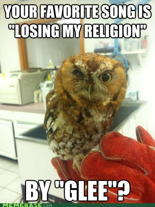 band glee losing my religion Memes REM - 5796871168