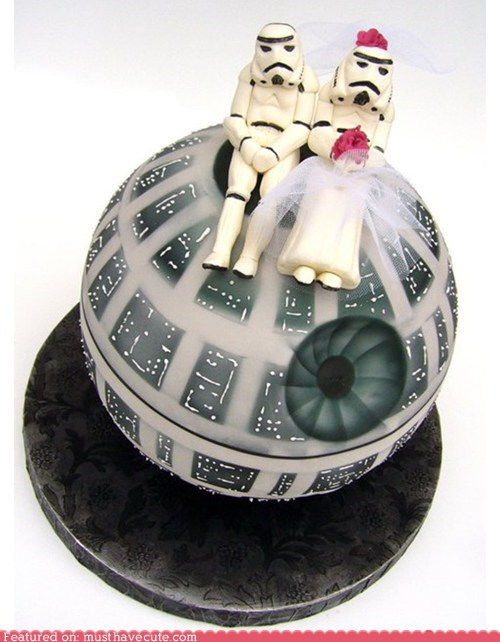 cake,Death Star,epicute,star wars,stromtroopers,wedding