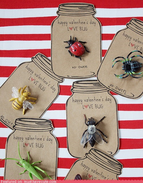 bug card creative DIY jar toy Valentines day - 5797063168