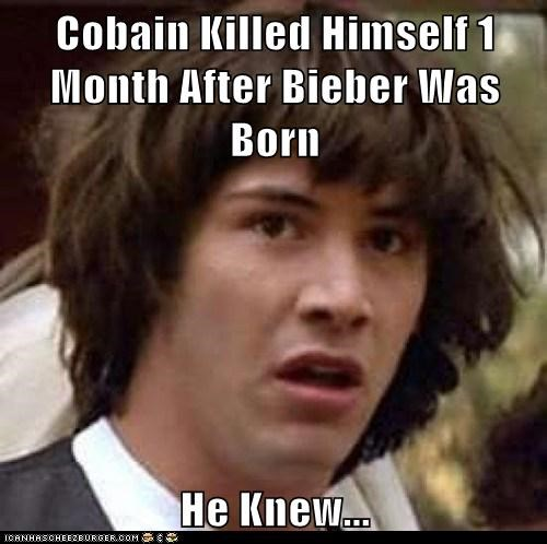 best of week,conspiracy keanu,justin bieber,kurt cobain,nirvana,teen spirit