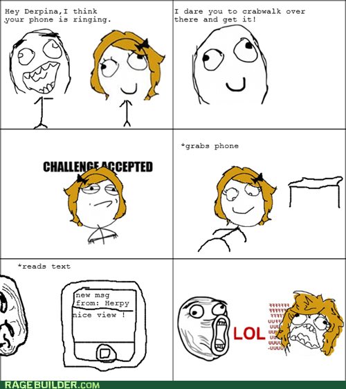 Challenge Accepted crabwalk Rage Comics that sounds naughty - 5797160704