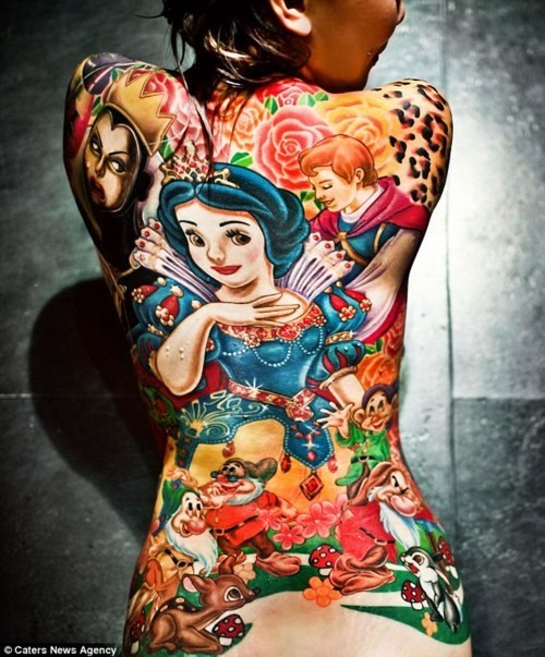 Annfaye Kao,Epic Back Tat,snow white