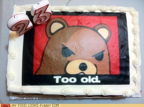 23 birthday cake candles pedobear too old - 5797214976