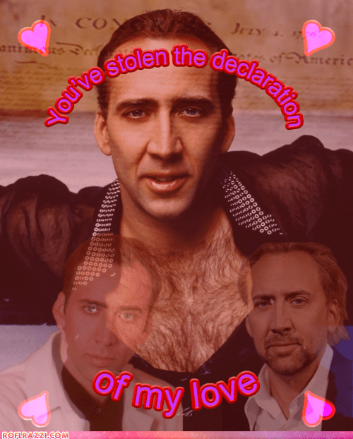 actor celeb funny holiday nic cage nicolas cage valentine Valentines day - 5797241856