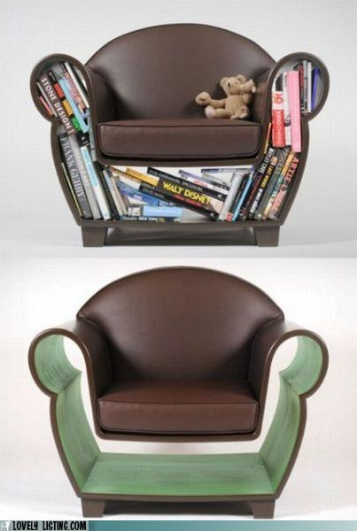 books chair library shelf storage - 5797391872