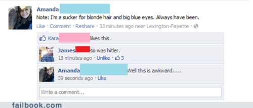Awkward blonde blue eyes hitler - 5797437952