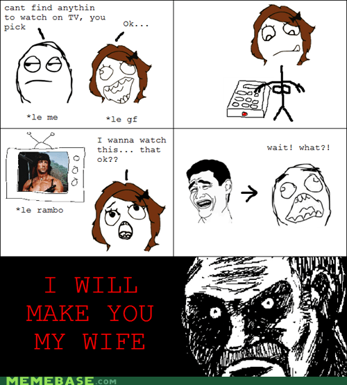 all that racket best of week Rage Comics rambo wife - 5797460480