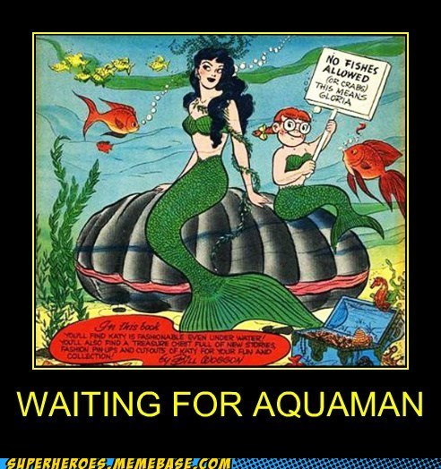 aquaman,crabs,fish,mermaid,Super-Lols,wtf