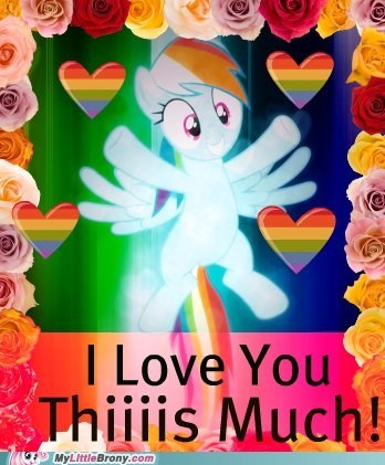 card cute ponies rainbow dash Valentines day - 5797687296