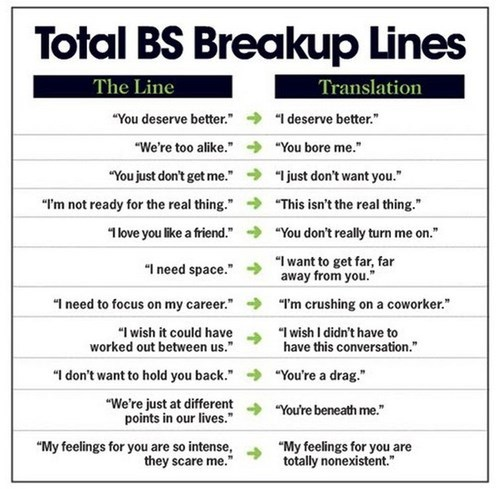 breakup dumped its-not-you-its-me lines translation