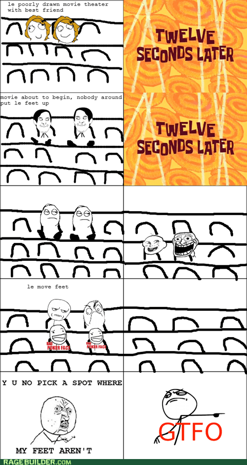 feet gross Rage Comics theater Y U No Guy