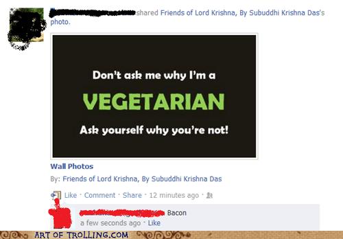 bacon ethics facebook vegetarian - 5797897728