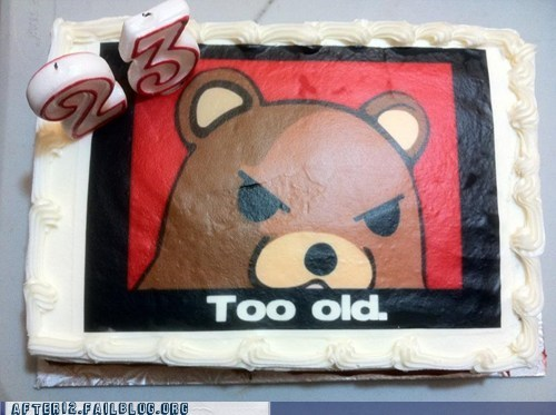 after 12 birthday cake happy birthday pedobear - 5797942528
