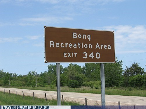 bong drugs dude highway pit stop pot sign - 5797944832