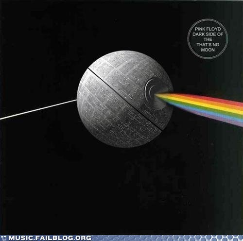 Dark Side of the Moon Death Star pink floyd star wars - 5797971712