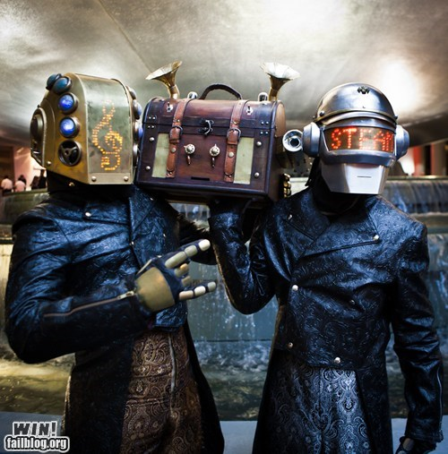classy cosplay daft punk dapper design Hall of Fame snazzy Steampunk