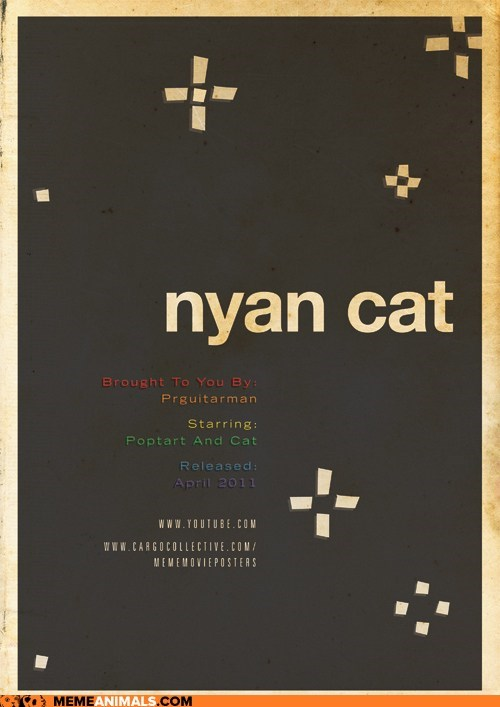 art,cool,minimalist,movie posters,nyan