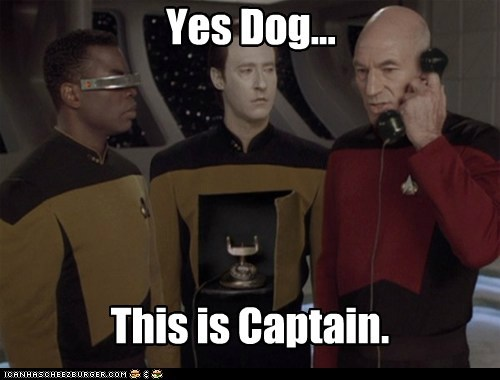 Yes Dog... This is Captain.