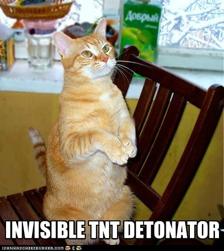 caption,captioned,cat,detonator,dynamite,invisible,tnt