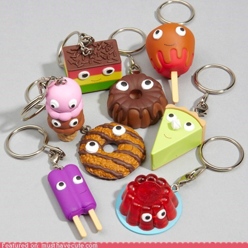 desserts,faces,Keychain,sweets