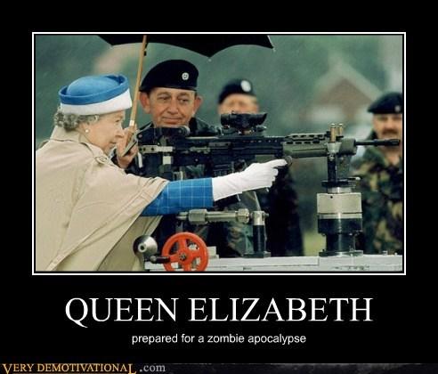 apocalypse,hilarious,queen elizabeth,zombie