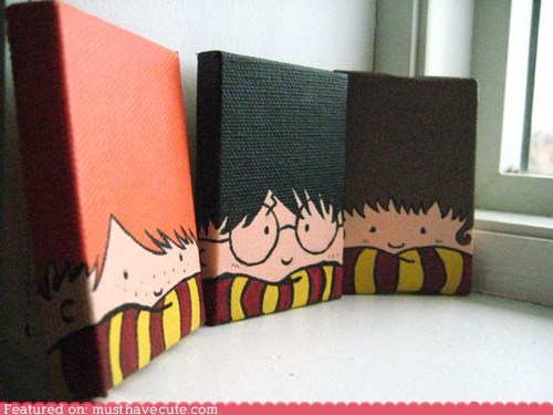 art canvas characters Harry Potter paintings