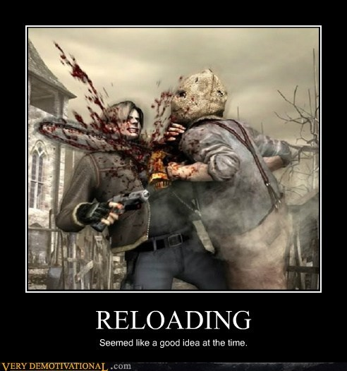 hilarious,reloading,resident evil,wtf