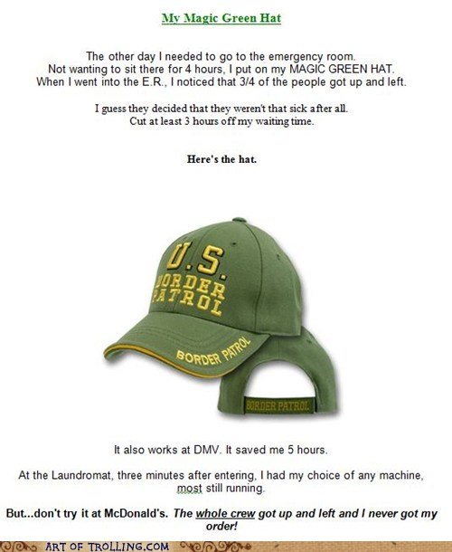 border patrol hat racism - 5799980544