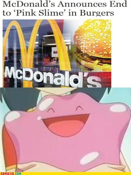 comic ditto McDonald's Pink Slime Pokémon rejoice - 5800185856